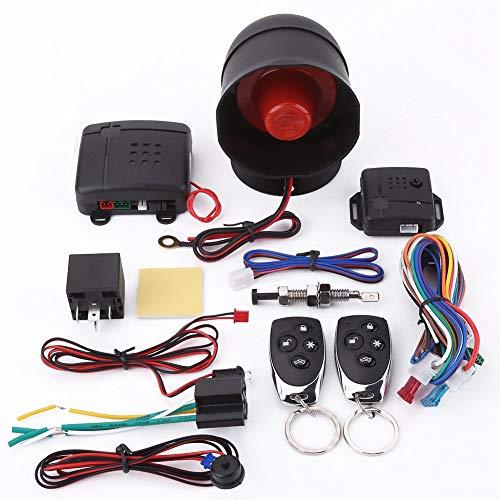 Auto Alarmanlage, Universelles Autosicherheitssystem Autoalarm-Sicherheitsschutzsystem Keyless Entry mit 2 Fernbedienungen Sirene Alarmanlagen Autoalarmsystem Universal Alarm Sicherheit Schutzsystem