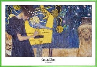 1art1 Gustav Klimt Poster and Frame (Plastic) - The Music, 1895 (36 x 24 inches)