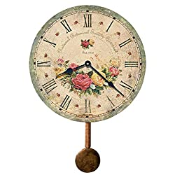 Howard Miller Savannah Botanical Society VI Wall Clock 620-401 – Antique & Round with Quartz Movement