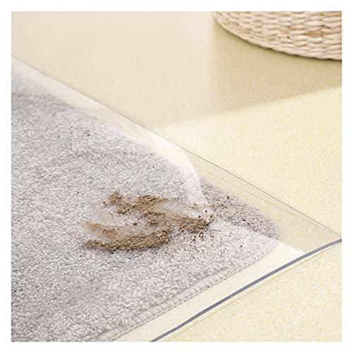 alfombra de Pasillo PVC Protector de Alfombra Transparente, Protector de Piso de 1,5mm de Espesor para Sala de Estar/Cocina/Silla de Mesa de Oficina, Impermeable y a Prueba de Polvo