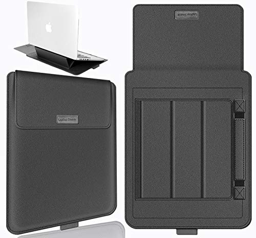 YYHAN Laptop Sleeve 15.6 inch with Laptop Stand,Laptop Protective Case with Mouse Pad for MacBook Pro 15 inch/15.4 inch, Dell XPS 15/Inspiration 15,HP and All of Lightweight Laptop 15.6 inch(Grey)