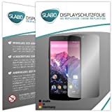 Slabo 4 x Bildschirmschutzfolie LG Google Nexus 5 Bildschirmschutz Schutzfolie Folie No Reflexion Keine Reflektion MATT - Entspiegelnd MADE IN GERMANY