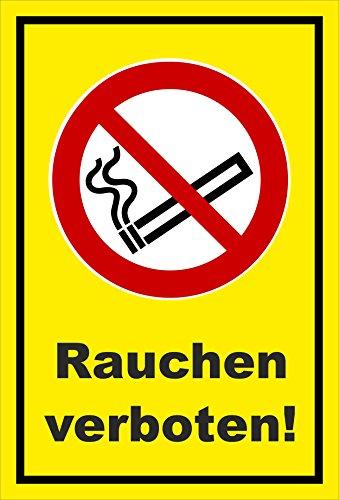 Melis Folienwerkstatt Aufkleber - Rauchen verboten - 30x20cm – S00355-005-C 20 VAR