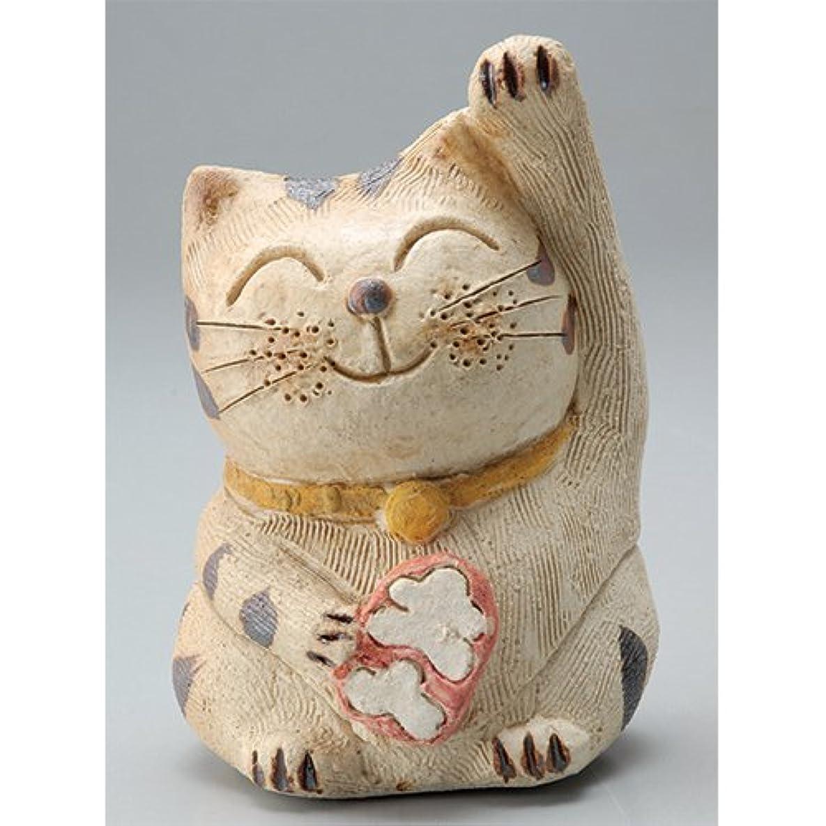 適切にめったにひどい香炉 微笑み招き猫(人招き)香炉(中) [H14cm] HANDMADE プレゼント ギフト 和食器 かわいい インテリア