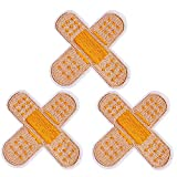 U-Sky Sew or Iron on Patches, 3pcs Cute Band Aid Patch for Kids Clothing, Biker Jackets, Jeans, Backpacks Size: 2.6x2.6 inch