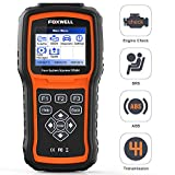 FOXWELL NT604 OBD2 Scanner 4 System Code Reader Check Engine/ABS/SRS/Transmission Car Diagnostic Tool, ABS Scan Tool, Air Bag & SRS Scanner for All Makes, 2020 with Latest Software