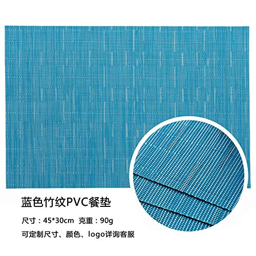 Placemat Solid Color European Style Pvc Woven Heat Insulation Placemat Hotel Home Environmental Protection Table Mat