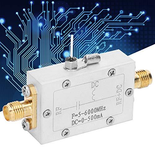 Weikeya RF DC Block, Frecuencia Microondas Coaxial DC500MA con aleación de Aluminio 5-6000MHz