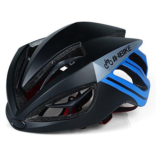 Casco de ciclismo INBIKE ultraligero con lentes magnéticos desmontables, Blue+Black no Lens