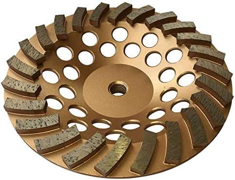 Diamond Grinding Wheel for Concrete 18 Segments 5//8 in to 11 in Arbor 5 in
