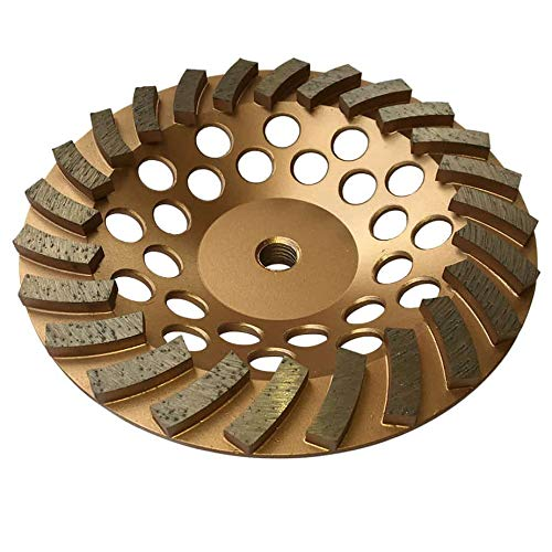 """Grinding Wheels for Concrete and Masonry Available from 4 to 7 Inches - 7"""" Diameter 24 Turbo Diamond Segments 5/8""""-11 Arbor"""