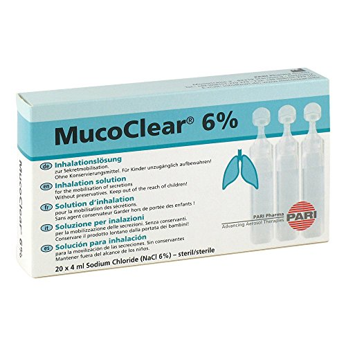 Mucoclear 6% Nacl Inhalat 20X4 ml