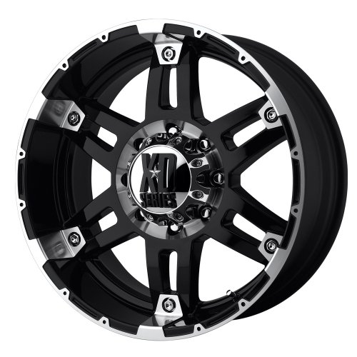 XD Series by KMC Wheels XD797 Spy Gloss Black Wheel With Machined Face (17x9'/5x127mm, -12mm offset)