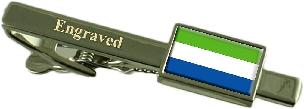 Sierra Leone Limited price Flag Dedication Engraved Clip Tie Personalised
