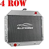 79 ford bronco radiator - ALLOYWORKS 4 Row All Aluminum Radiator for 1966-1979 Ford Trucks F100 F150 F250 F350 / 1978-1979 Bronco V8