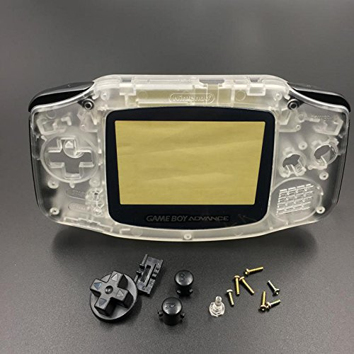 Replacement Housing Shell Case Cover Skin Button For Nintendo Gameboy Advance GBA Console Color Clear