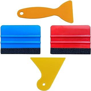 UTSAUTO Felt Edge Squeegee Car Wrapping Tool Kits 4 Inch Vinyl Wrap Squeegee Applicator Tool for Car Vinyl Wrap, Window Ti...