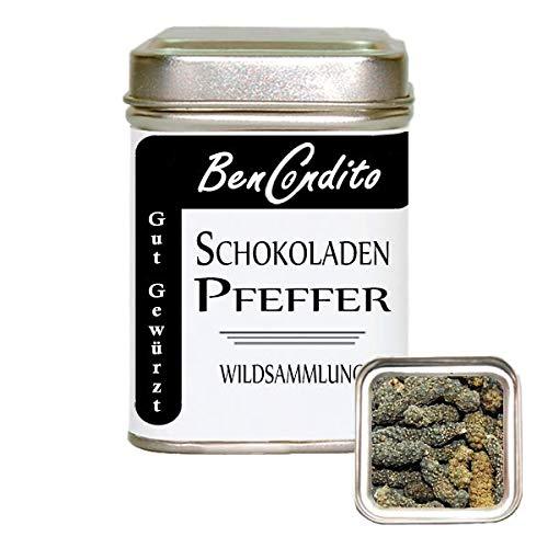 BenCondito I Schokoladenpfeffer ( Langer Pfeffer) - Langer Pfeffer mit natürlichen Schokoladenaroma 60 Gr. Dose