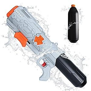TINLEON Pistola de Agua 1400CC Soaker: Water Blaster Super Squirt 1400cc Regalos de Alta Capacidad hasta 36 pies de Largo Alcance de Disparo para los niños Adultos niños niñas, Fiesta en la Playa