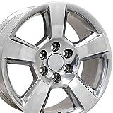 OE Wheels LLC 20 Inch Fits Chevy Silverado Tahoe GMC Sierra Yukon Cadillac Escalade CV76 Polished 20x9 Rim Hollander 5652