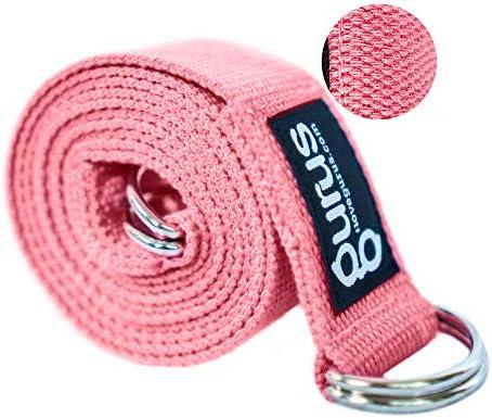 Gurus Adjustable Vine Sling Yoga Strap for Stretching Yoga Mat Sling Carrier Pink product image