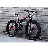 LJLYL Fat Tire Bike - Bicicleta de montaña plegable, suspensión completa con marco de acero al carbono y ruedas de aleación de magnesio, freno de doble disco, color a, tamaño 24 inch 24 speed