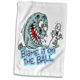 3D Rose Funny Blame It On The Ball Bowling Humor Design Hand/Sports Towel, 15 x 22