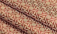 JJD 平野、銅のお金、不織布、壁紙、リビングルーム、テレビの背景の壁、壁紙 (Color : 赤)