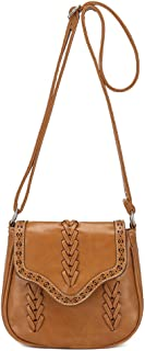 Docooler New Fashion Women Crossbody Bag PU Leather Hollow Out Woven Braided Vintage Casual Shoulder Bag