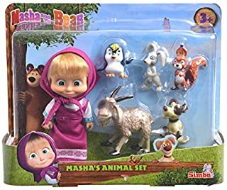 Masha and the Bear Masha and Her Animal Friends - 6 Piece Set