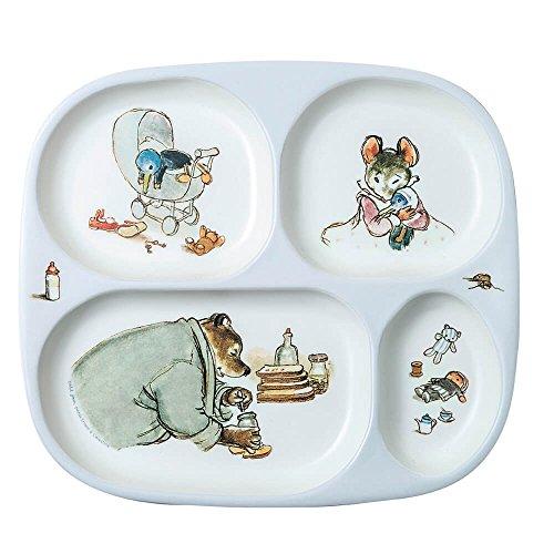 Petit Jour Paris Mimmi & Brumm Assiette en mélamine 24 cm – Assiette de service pour enfant Assiette en mélamine Assiette pour bébé Multicolore Sans BPA