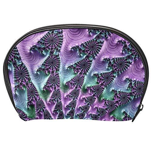 TIZORAX Sac à main à texture spirale Bleu et vert Sac à cosmétiques Voyage Organisateur de Maquillage Sacs à main pour femmes filles