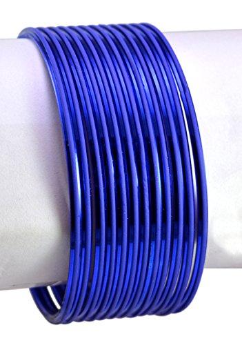 Bollywood-Armreif für Damen, indisches Design, Blau, MB515M