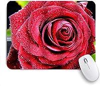 マウスパッド 個性的 おしゃれ 柔軟 かわいい ゴム製裏面 ゲーミングマウスパッド PC ノートパソコン オフィス用 デスクマット 滑り止め 耐久性が良い おもしろいパターン (ロマンチックなローズデューフラワーフローラル)