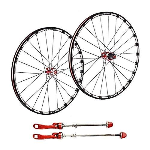 TYXTYX Rueda de Bicicleta 26 27,5 en MTB Juego de Ruedas de Bicicleta Llanta de aleación de Doble Pared Primero 2 Trasera 5 Palin Freno de Disco de liberación rápida 7 8 9 10 11 Velocidad