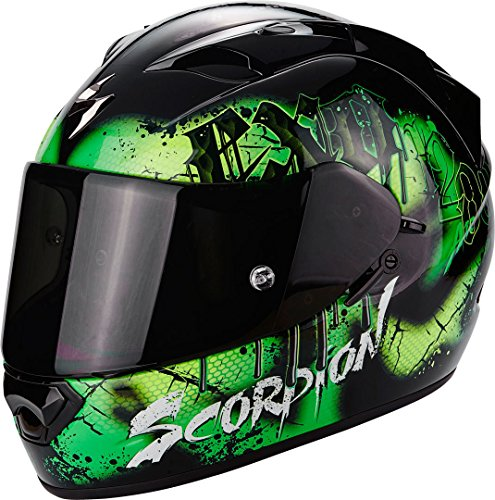 Scorpion Casco Moto EXO-1200 Air Tenebris Black/Green, XS