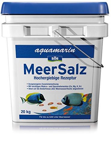 Söll 17873 aquamarin Meer Salz - schafft natürliches Meerwasser für gesunde Meerwasserfische - 20 kg
