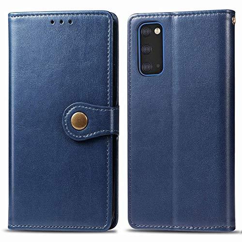 Happy-L Caso Samsung Galaxy S11E, Funda Delgada de Cuero PU Premium con Caja de Billetera de Cierre magnético Fuerte de Doble vía (Color : Blue)