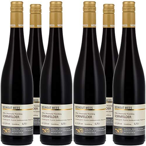 Weingut Mees DORNFELDER ROTWEIN TROCKEN 2017 Deutschland Nahe Prämiert (6 x 750 ml) 100% Dornfelder