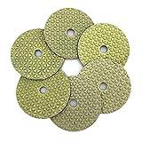XIANGSHAN 6 unids/Set 100 mm Pulido en seco Almohadilla de Pulido de Diamantes de 4 Pulgadas Almohadillas de Pulido de mármol de molienda de mármol para el Granito del Piso
