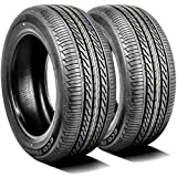 Set of 2 (TWO) Accelera Eco Plush All-Season Touring Radial Tires-225/60R15 225/60/15 225/60-15 96V Load Range SL 4-Ply BSW Black Side Wall