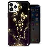 Coque souple en gel pour iPhone 11 Pro Max Motif papillon Doré/bleu/noir