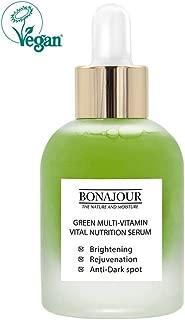 [BONAJOUR] Natural Green Multi Vitamin Serum for Face - 72% Vitamin, Anti Aging & Brightenging, Remove Dark Spot 1.18 fl. oz