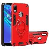 myEstore Étui de téléphone Portable Idéal pour Huawei Y6 (2019) 2 en 1 Armor Knight Series PC +...