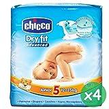 4 pacchi di pannolini chicco junior misura 5 (12-25kg)