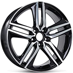 "19"" x 8"" HONDA ACCORD ALLOY WHEEL RIM ONE PIECE Part Number: 42700T2AL92 / ALY64083U45N Quantity: One (1) Finish: Machined Face with Black Metal Inserts Rim Material: Alloy Rim Width: 8"" Rim Diameter: 19"" Offset: 55 mm Number Bolt: 5 Bolt Pattern: 5 ..."