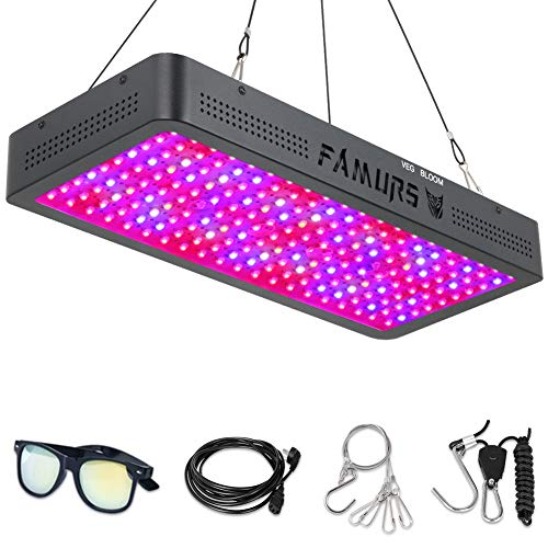 FAMURS 2000W LED Grow Light Full Spectrum Triple Chips LED Plant Grow Lamp with Veg and Bloom Two Switch for Greenhouse Hydroponic Indoor Plants.