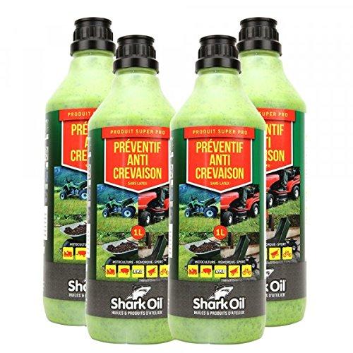 Préventif anti crevaison Shark Oil OKO super pro 1 litre par 4 - Pièce neuve