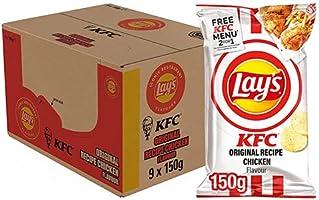 Lay's Iconic Restaurant Flavours Chips KFC Original Chicken Recipe, Doos 9 stuks x 150 g