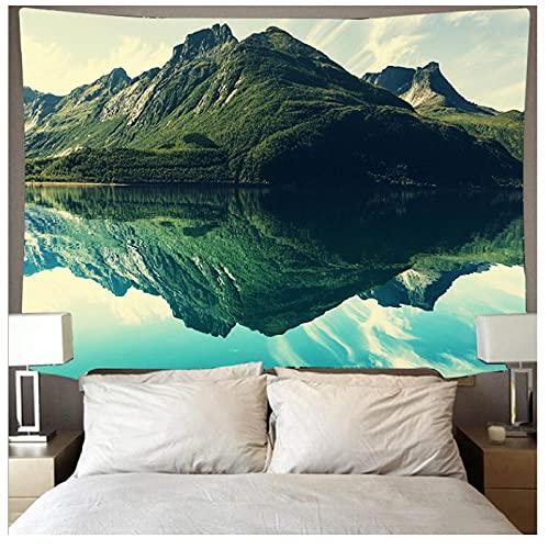 KBIASD Hermosa montaña Rolling Forest Lake Paisaje Tapiz Arte Psicodélico Colgante de Pared Toalla de Playa Mandala Manta Yoga Mats-200 * 150cm